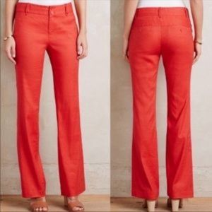 Elevenses Red Brenton  Trousers size 4